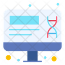 Dna Laptop Genetic Icon