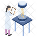 Dna Report Lab Experiment Laboratory Test Icon