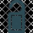 Do Not Disturb Door Hanger Door Label Icon