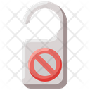 Do Not Disturb Door Hanger Door Sign Icon