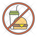 Do Not Eat Prohibition Fast Icon
