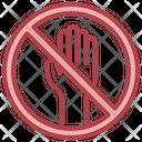 Do Not Touch Forbidden Do Not Disturb Icon