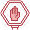Do Not Touch Hand Forbidden Icon