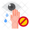 Do Not Touch Eye Icon
