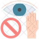 Eye Touch Avoid Icon
