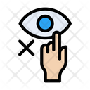 Notallowed Touch Eyes Icon