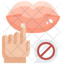 Do Not Touch Mouth Dont Touch Lips Do Not Touch Lips Icon