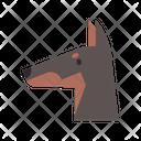 Doberman Pinscher Watchdog Icon
