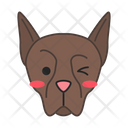 Doberman Dog Winking Icon