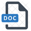 Doc File Format Icon