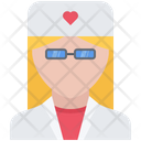 Doctor Gown Glasses Icon