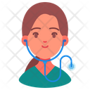 Woman Avatar Doctor Icon