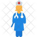Doctor Nurse Stethescope Icon