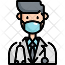 Doctor Mask Face Icon