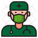 Doctor Virus Covid Icon