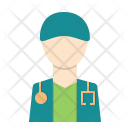 Doctor Man Care Icon