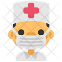 Quarantine Stayhome Doctor Medicine Icon