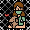 Veterinarian Doctor Dog Icon