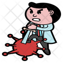 Coronavirus Doctor Epidemic Icon