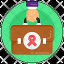 Medical Bag Doctor Bag Awareness Briefcase Icon