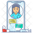 Mobile Messaging Doctor Chat Medical App Icon