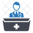 Doctor Desk Doctor Office Clinic Icon