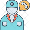 Doctor On Call Treatment Therapist Icon