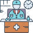 Doctor On Duty Patient Comfortable Icon