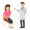 Doctor Patient Medical Checkup Doctor Examination Icon