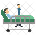 Doctor patient stretcher Icon