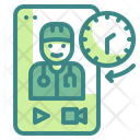 Doctor Video Call Time Doctort Icon