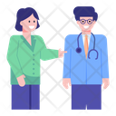 Doctor With Assistant Icon
