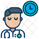 Doctor With Clock Icon