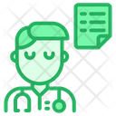 Doctor With Document Icon
