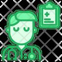 Doctor With Prescription Icon