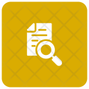 Document File Magnifyingglass Icon