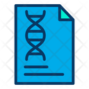 Dna Report Research Report Research Document Icon