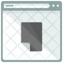 Document Webpage Window Icon