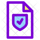 Document Protected Document Secure File Icon