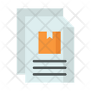Document Parcel Paper Package Document Icon