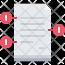 Document Error Mistake Icon