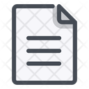 Document Note Paper Icon