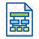 Document Flowchart Hierarchy Icon