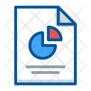 Document File Pie Chart Icon