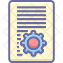 Document Setting Paper Icon