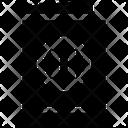 Travel Glyph Document Passport Icon