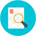Document Magnifier Paper Icon