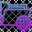 Document Folder Globe Icon