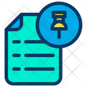 Pin Push Pin Document Icon
