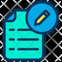 Document Pencil File Icon